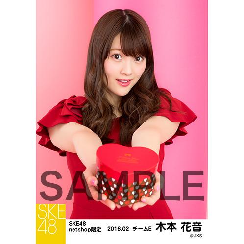 SKE48 2016年2月度 net shop限定個別生写真「バレンタインII」5枚セット 木本花音