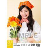 SKE48 2016年4月度 net shop限定個別生写真「お花屋さん」5枚セット 山田樹奈