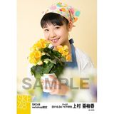 SKE48 2016年4月度 net shop限定個別生写真「お花屋さん」5枚セット 上村亜柚香