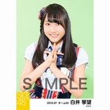 SKE48 2016年7月度 個別生写真「ドームストライプ」5枚セット 白井琴望