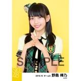 SKE48 2016年10月度 個別生写真「グリーンチェック」5枚セット 野島樺乃