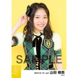 SKE48 2016年10月度 個別生写真「グリーンチェック」5枚セット 山田樹奈