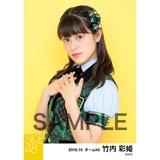 SKE48 2016年10月度 個別生写真「グリーンチェック」5枚セット 竹内彩姫