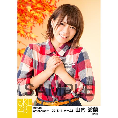 SKE48 2016年11月度 net shop限定個別生写真「秋の行楽」5枚セット 山内鈴蘭