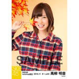 SKE48 2016年11月度 net shop限定個別生写真「秋の行楽」5枚セット 高柳明音