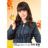 SKE48 2016年11月度 net shop限定個別生写真「秋の行楽」5枚セット 竹内彩姫