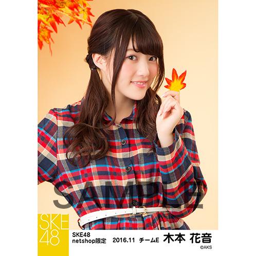 SKE48 2016年11月度 net shop限定個別生写真「秋の行楽」5枚セット 木本花音