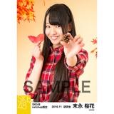 SKE48 2016年11月度 net shop限定個別生写真「秋の行楽」5枚セット 末永桜花