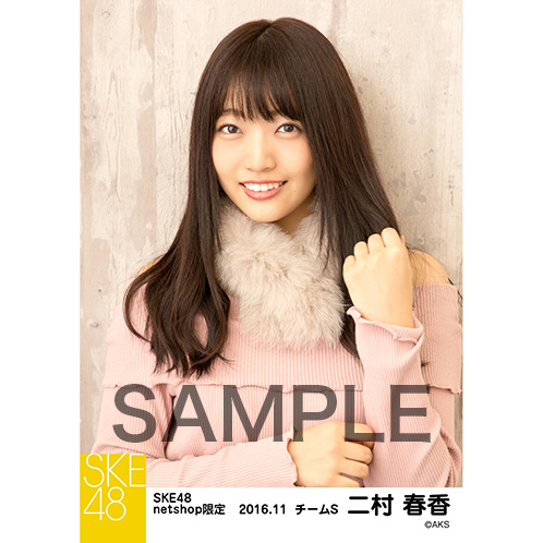 SKE48 2016年11月度 net shop限定個別ランダム生写真5枚セット 二村春香