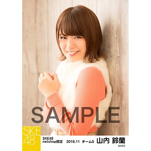 SKE48 2016年11月度 net shop限定個別ランダム生写真5枚セット 山内鈴蘭