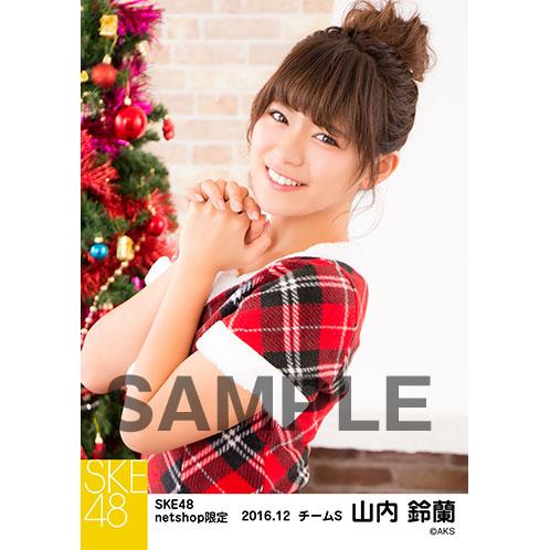SKE48 2016年12月度 net shop限定個別生写真「クリスマス」5枚セット 山内鈴蘭