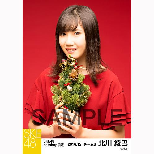 SKE48 2016年12月度 net shop限定個別生写真「クリスマスII」5枚セット 北川綾巴