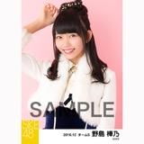 SKE48 2016年12月度 個別生写真「コンサート クリスマス」衣装5枚セット 野島樺乃
