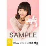 SKE48 2017年2月度 net shop限定個別生写真「バレンタイン」5枚セット 野島樺乃