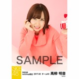 SKE48 2017年2月度 net shop限定個別生写真「バレンタイン」5枚セット 高柳明音