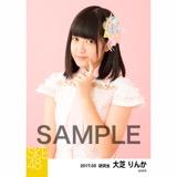 SKE48 2017年3月度 個別生写真「ストライプワンピース」衣装5枚セット 大芝りんか