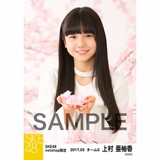 SKE48 2017年3月度 net shop限定個別生写真「さくら」5枚セット 上村亜柚香