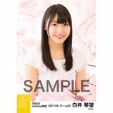 SKE48 2017年3月度 net shop限定個別生写真「さくら」5枚セット 白井琴望