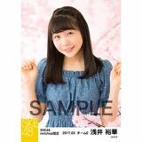 SKE48 2017年3月度 net shop限定個別生写真「さくら」5枚セット 浅井裕華