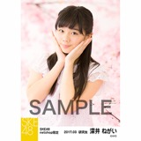 SKE48 2017年3月度 net shop限定個別生写真「さくら」5枚セット 深井ねがい