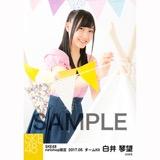 SKE48 2017年5月度 net shop限定個別ランダム生写真5枚セット 白井琴望