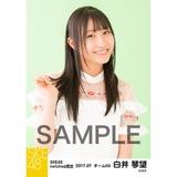 SKE48 2017年7月度 net shop限定個別生写真「夏のシースルー」5枚セット 白井琴望