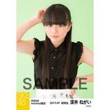 SKE48 2017年7月度 net shop限定個別生写真「夏のシースルー」5枚セット 深井ねがい