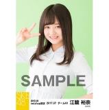SKE48 2017年7月度 net shop限定個別生写真「ストライプ」5枚セット 江籠裕奈