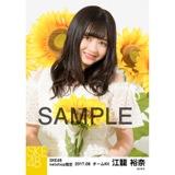 SKE48 2017年8月度 net shop限定個別生写真「ひまわり畑」5枚セット 江籠裕奈