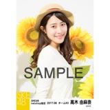 SKE48 2017年8月度 net shop限定個別生写真「ひまわり畑」5枚セット 高木由麻奈