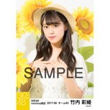 SKE48 2017年8月度 net shop限定個別生写真「ひまわり畑」5枚セット 竹内彩姫