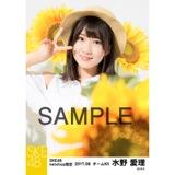 SKE48 2017年8月度 net shop限定個別生写真「ひまわり畑」5枚セット 水野愛理
