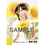 SKE48 2017年8月度 net shop限定個別生写真「ひまわり畑」5枚セット 髙畑結希