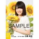 SKE48 2017年8月度 net shop限定個別生写真「ひまわり畑」5枚セット 白雪希明