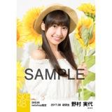 SKE48 2017年8月度 net shop限定個別生写真「ひまわり畑」5枚セット 野村実代