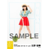 SKE48 2017年8月度 net shop限定個別ランダム生写真5枚セット 北野瑠華