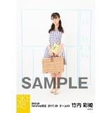 SKE48 2017年8月度 net shop限定個別ランダム生写真5枚セット 竹内彩姫