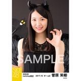 SKE48 2017年10月度 net shop限定個別生写真「悪魔」5枚セット 菅原茉椰