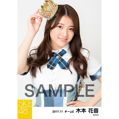 SKE48 2017年11月度 個別生写真「SKEフェスティバル 重力シンパシー」衣装5枚セット 木本花音