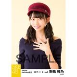 SKE48 2017年11月度 net shop限定個別生写真「タータンチェック」5枚セット 野島樺乃
