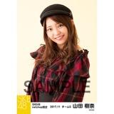 SKE48 2017年11月度 net shop限定個別生写真「タータンチェック」5枚セット 山田樹奈