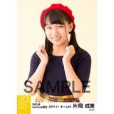 SKE48 2017年11月度 net shop限定個別生写真「タータンチェック」5枚セット 片岡成美