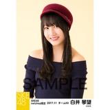 SKE48 2017年11月度 net shop限定個別生写真「タータンチェック」5枚セット 白井琴望