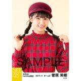 SKE48 2017年11月度 net shop限定個別生写真「タータンチェック」5枚セット 菅原茉椰