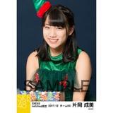 SKE48 2017年12月度 net shop限定個別生写真「2017年 クリスマス」5枚セット 片岡成美