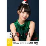 SKE48 2017年12月度 net shop限定個別生写真「2017年 クリスマス」5枚セット 髙畑結希