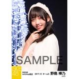 SKE48 2017年12月度 net shop限定個別生写真「聖歌隊」5枚セット 野島樺乃