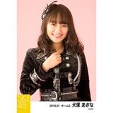 SKE48 2018年1月度 個別生写真「黒コート」5枚セット 犬塚あさな