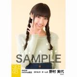 SKE48 2018年1月度 net shop限定個別生写真「ポンポンファー」5枚セット 野村実代