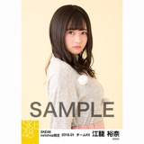 SKE48 2018年1月度 net shop限定個別生写真「ポンポンファー」5枚セット 江籠裕奈